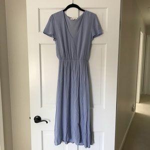 Never Worn Wayf Blouson Midi Dress
